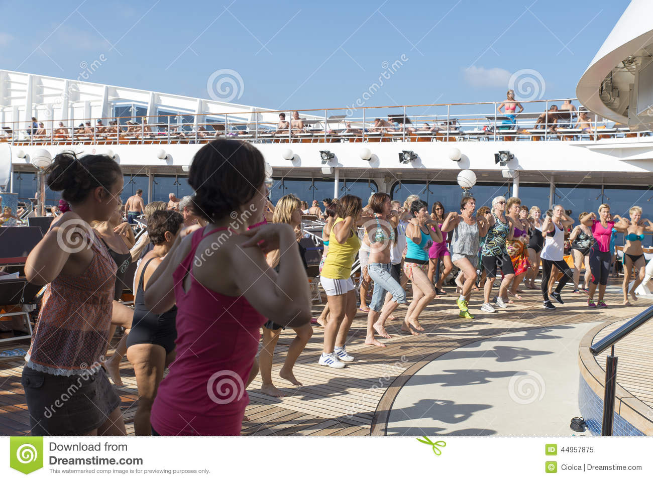 People On A Cruise Ship Deck Editorial Image Image Of
