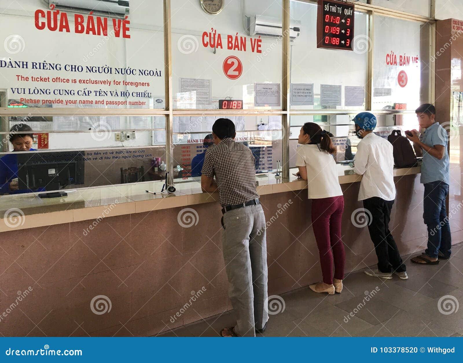 People At Da Nang Railway Station, Vietnam Editorial Image - Image