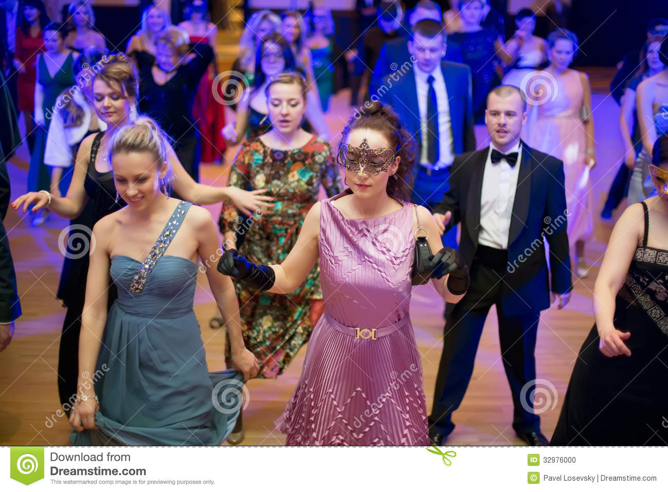 People Dance On Costume Party Editorial Image