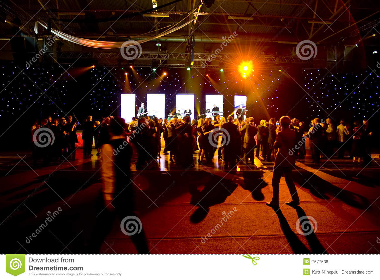 People dancing at stage