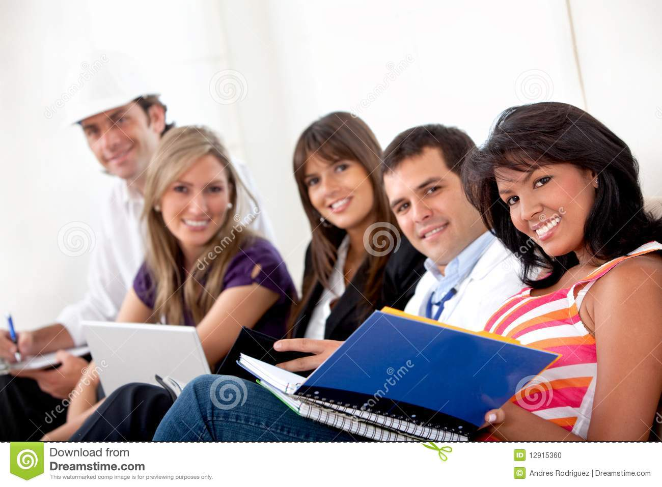 People With Different Jobs Stock Photo Image Of Notebooks