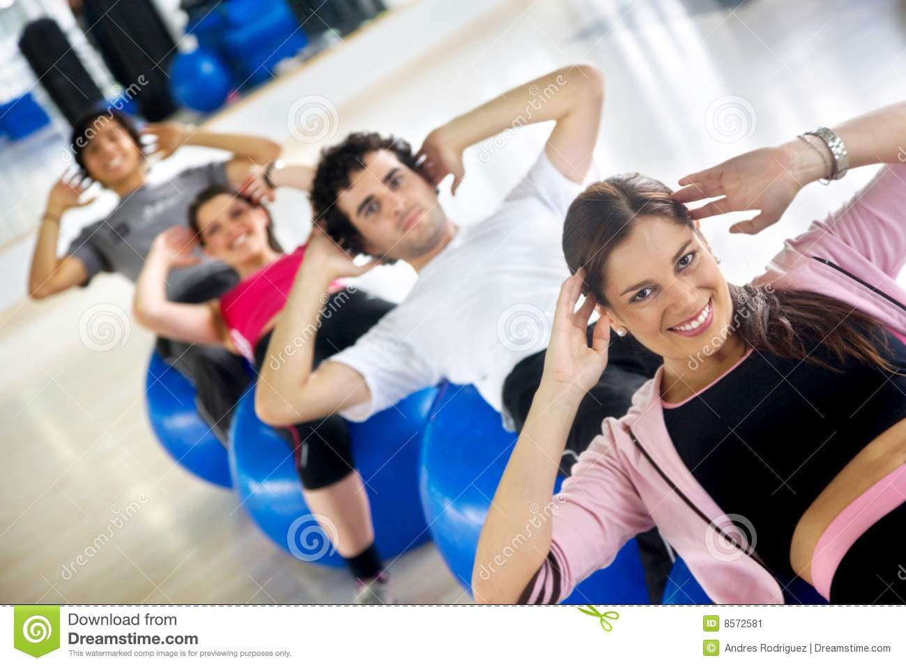 People Doing Sit-ups S...A Circle Of Hands Clipart