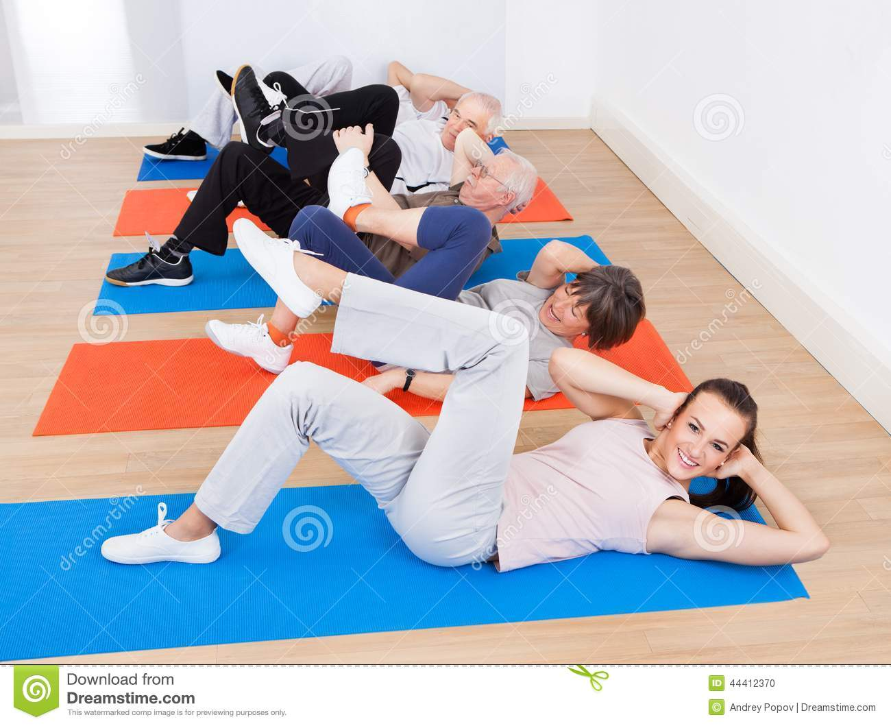 People Doing Sit Ups At Gym Stock Photo Image 44412370
