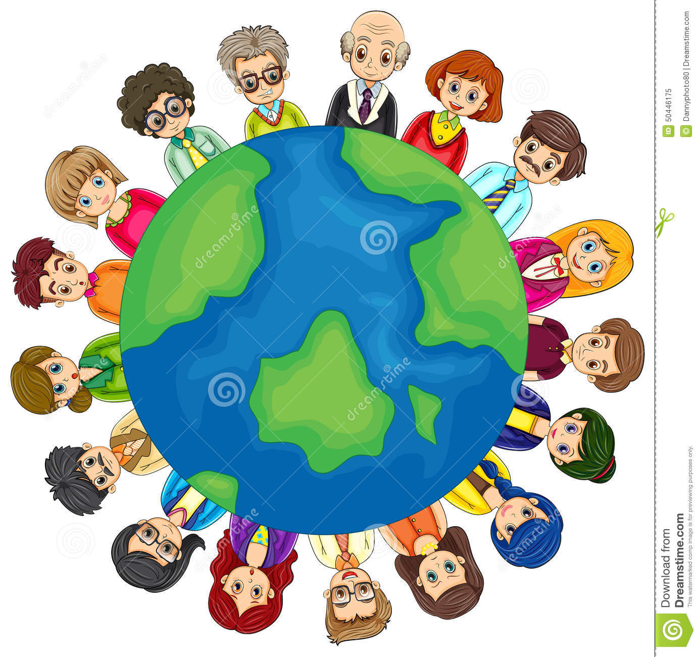 People And Earth Stock Vector - Image: 50446175