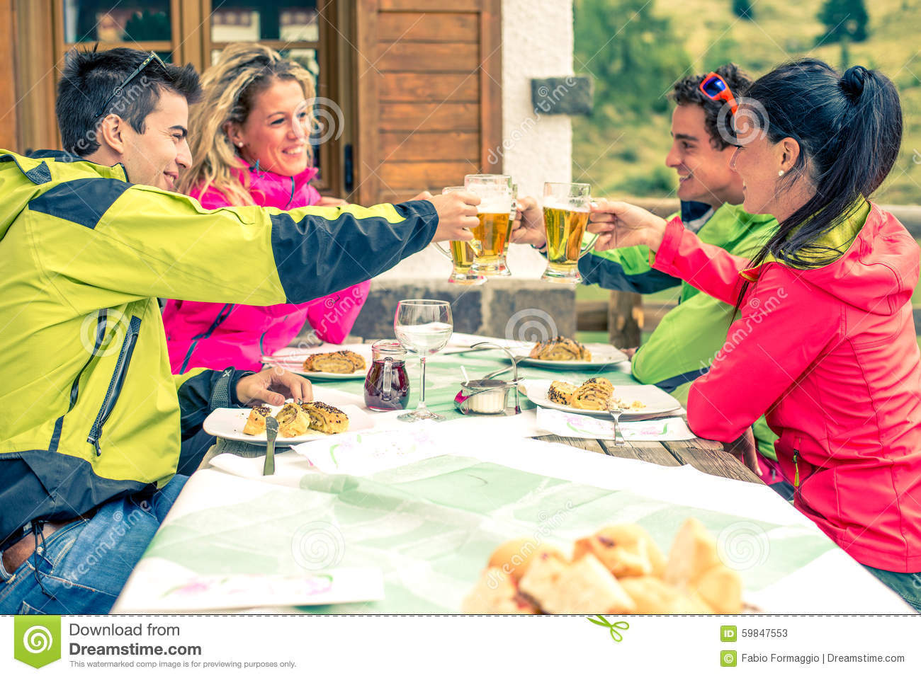 People Eating And Drinking Stock Photo Image 59847553