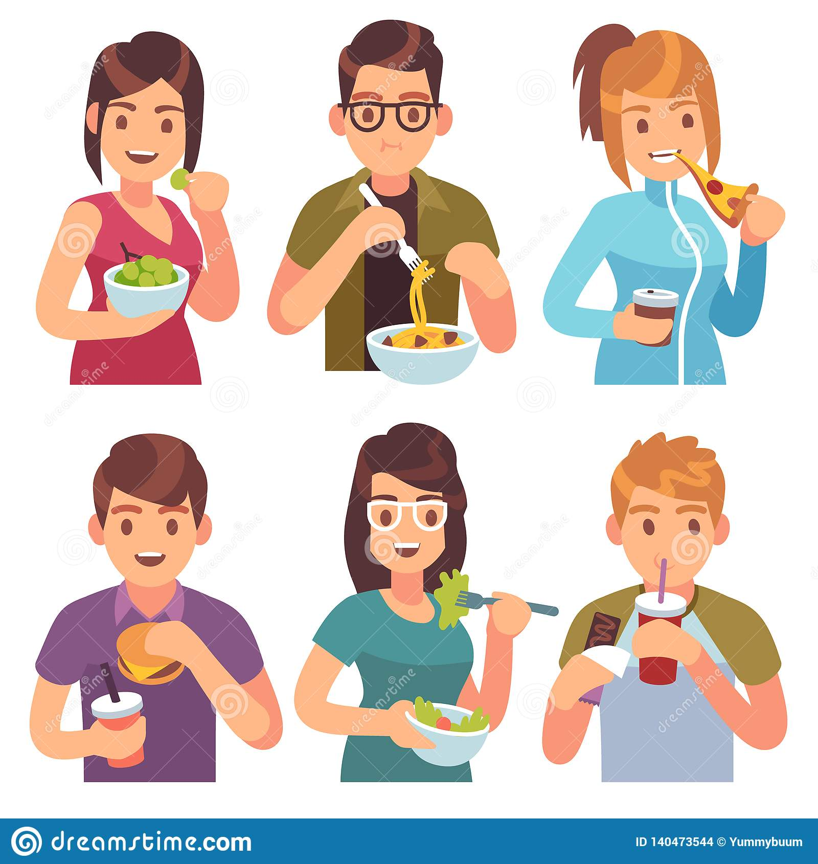 People Eating Eat Drinking Food Men Women Healthy Tasty Dishes