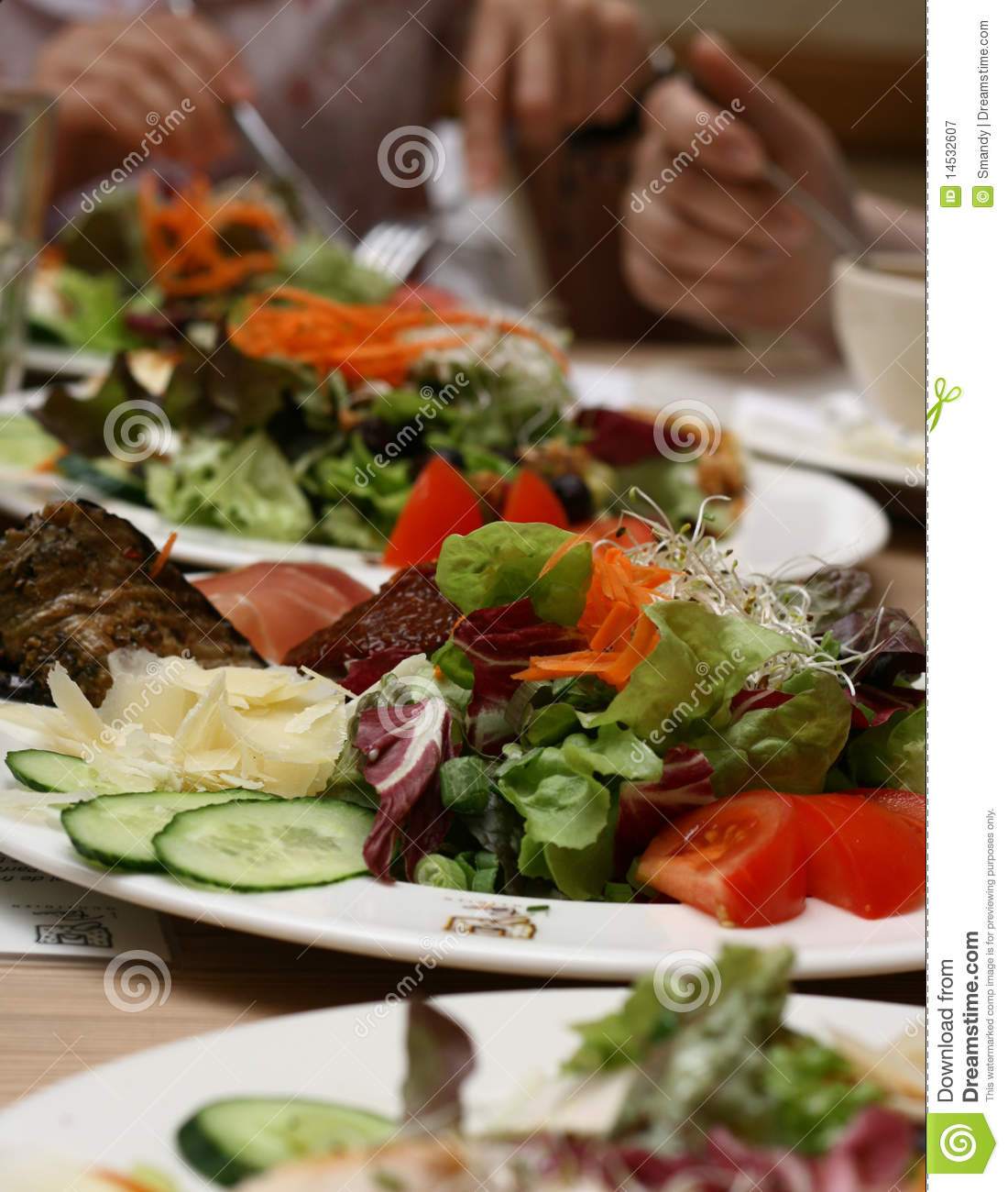 People Eating Healthy Organic Food Royalty Free Stock