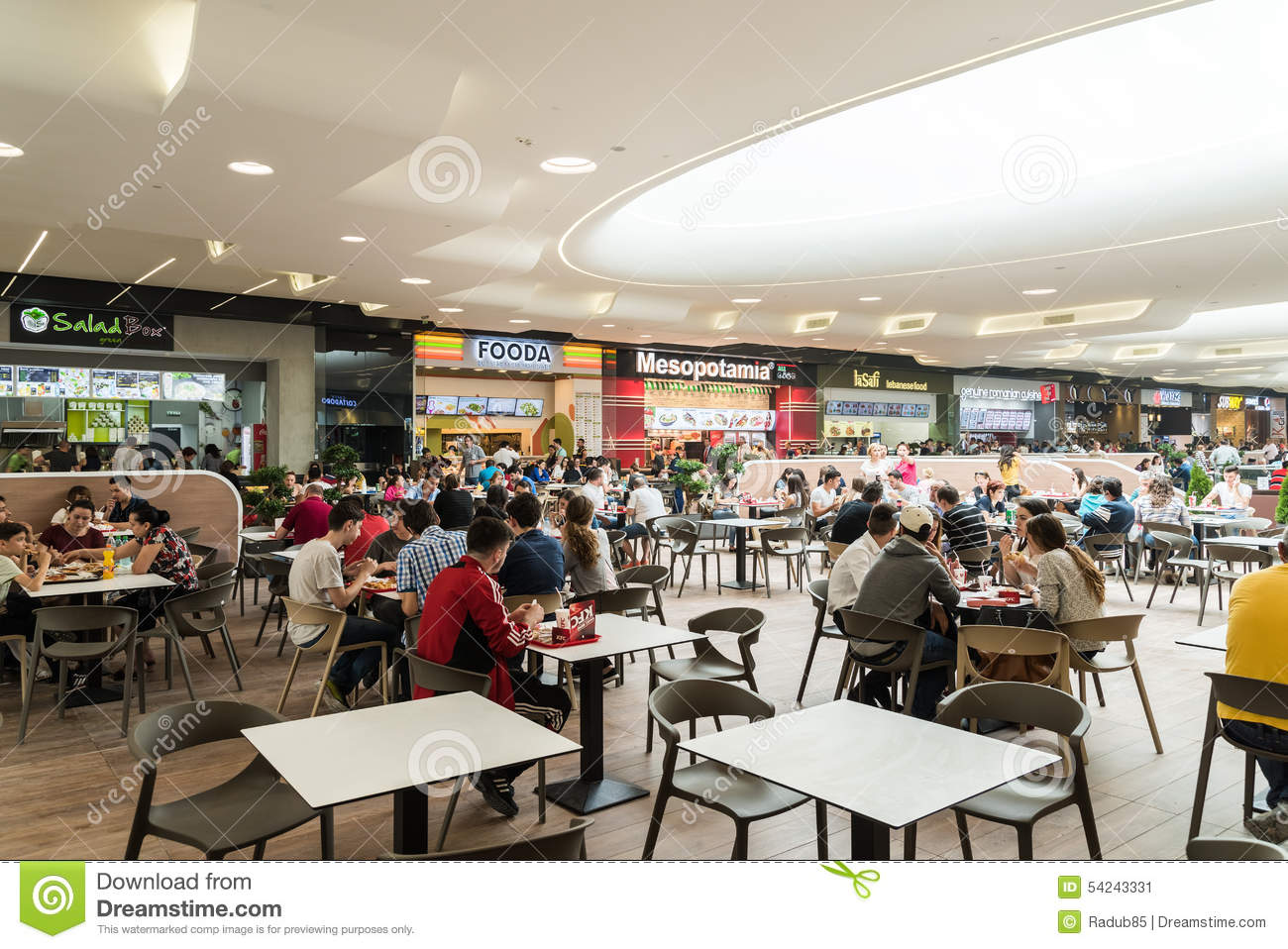 Eating in mall images usseek