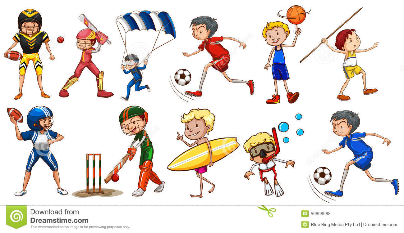 people engaging in different activities stock vector illustration