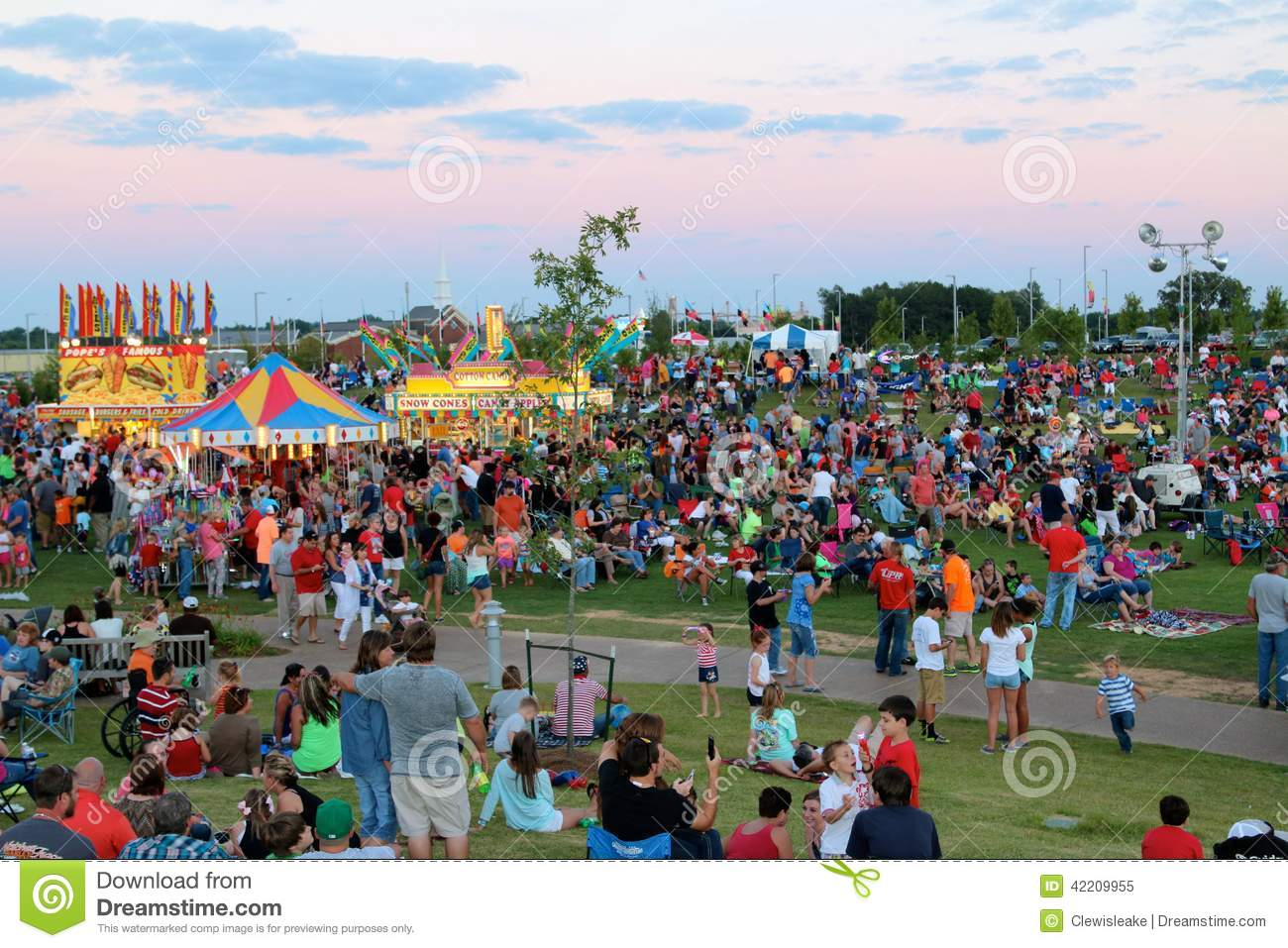 People Enjoy The Fourth of July at The Discovery Park of America, Union City Tennessee