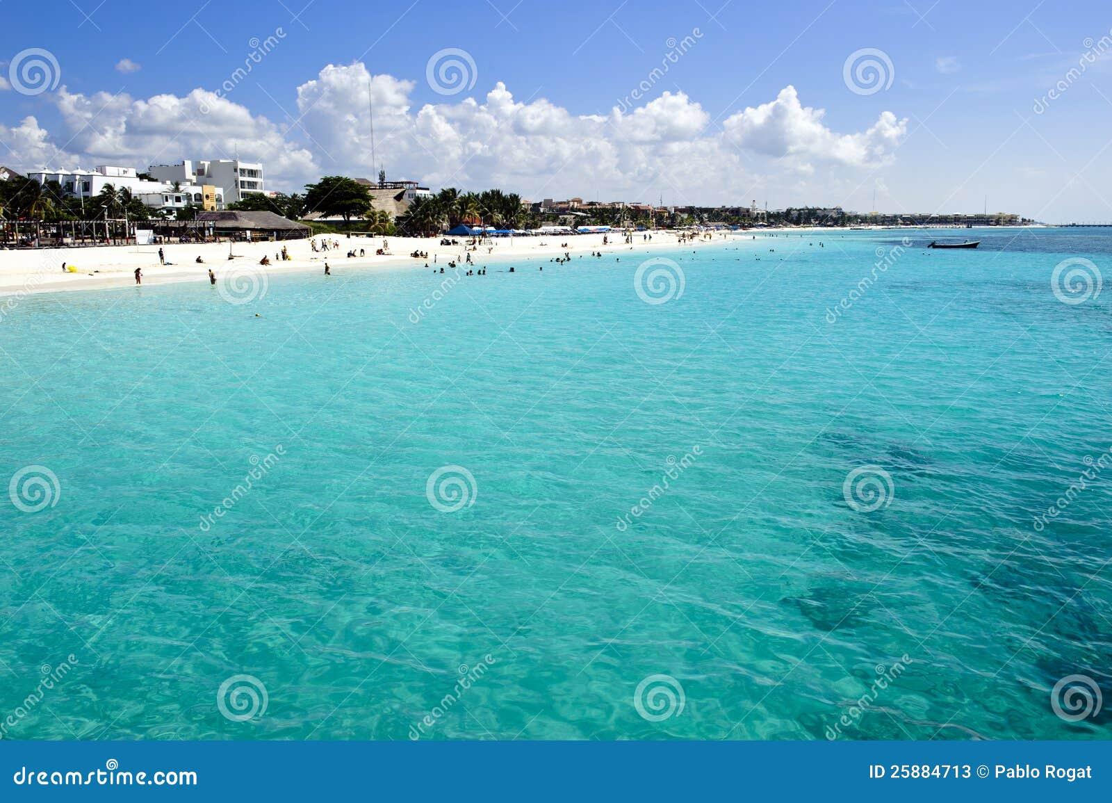 People Enjoying A Caribbean Beach Stock Photos - Image ...