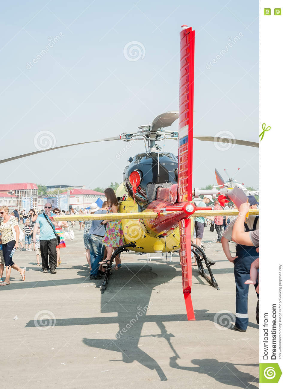 People Explore Eurocopter AS 355NP Ecureuil 2 Editorial Photo