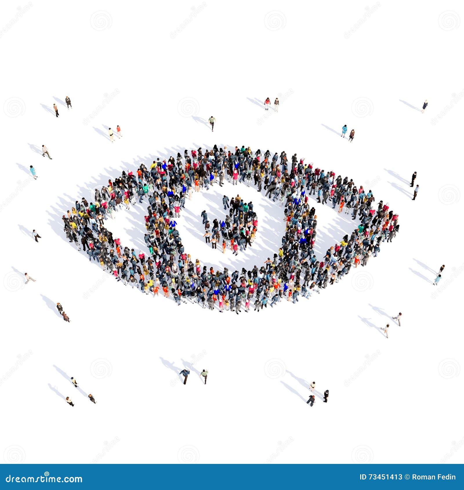 People eye medical 3d