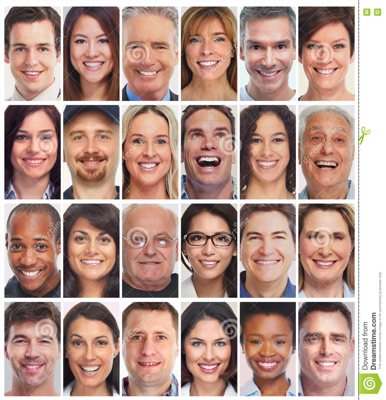 People faces collection