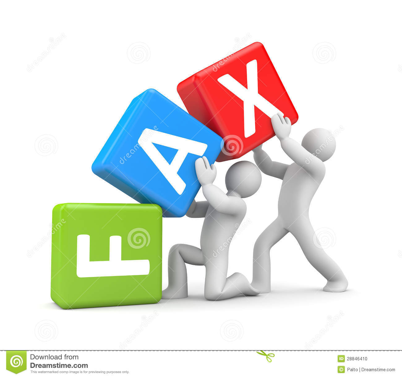 People With FAX Word Stock Photo - Image: 28846410