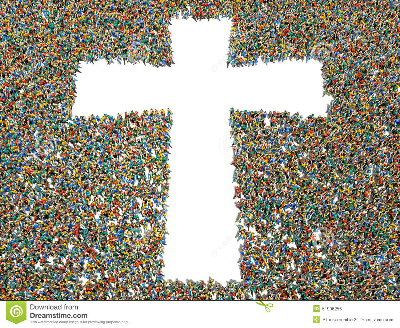 People Finding Christianity, Religion And Faith. Stock Illustration ...