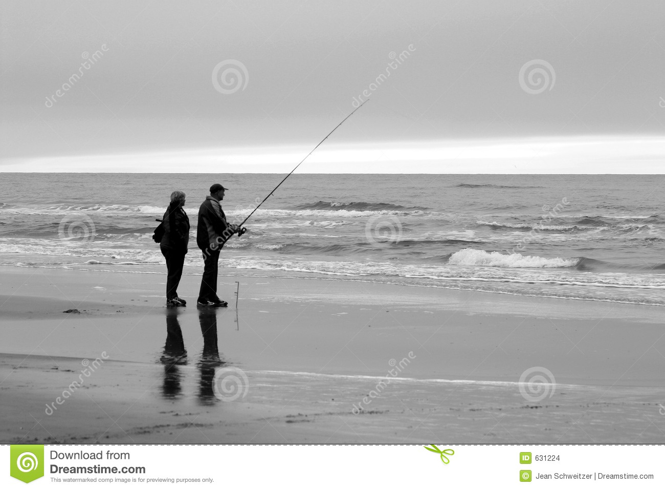 People fishing on beach stock photo image of grey for Videos of people fishing