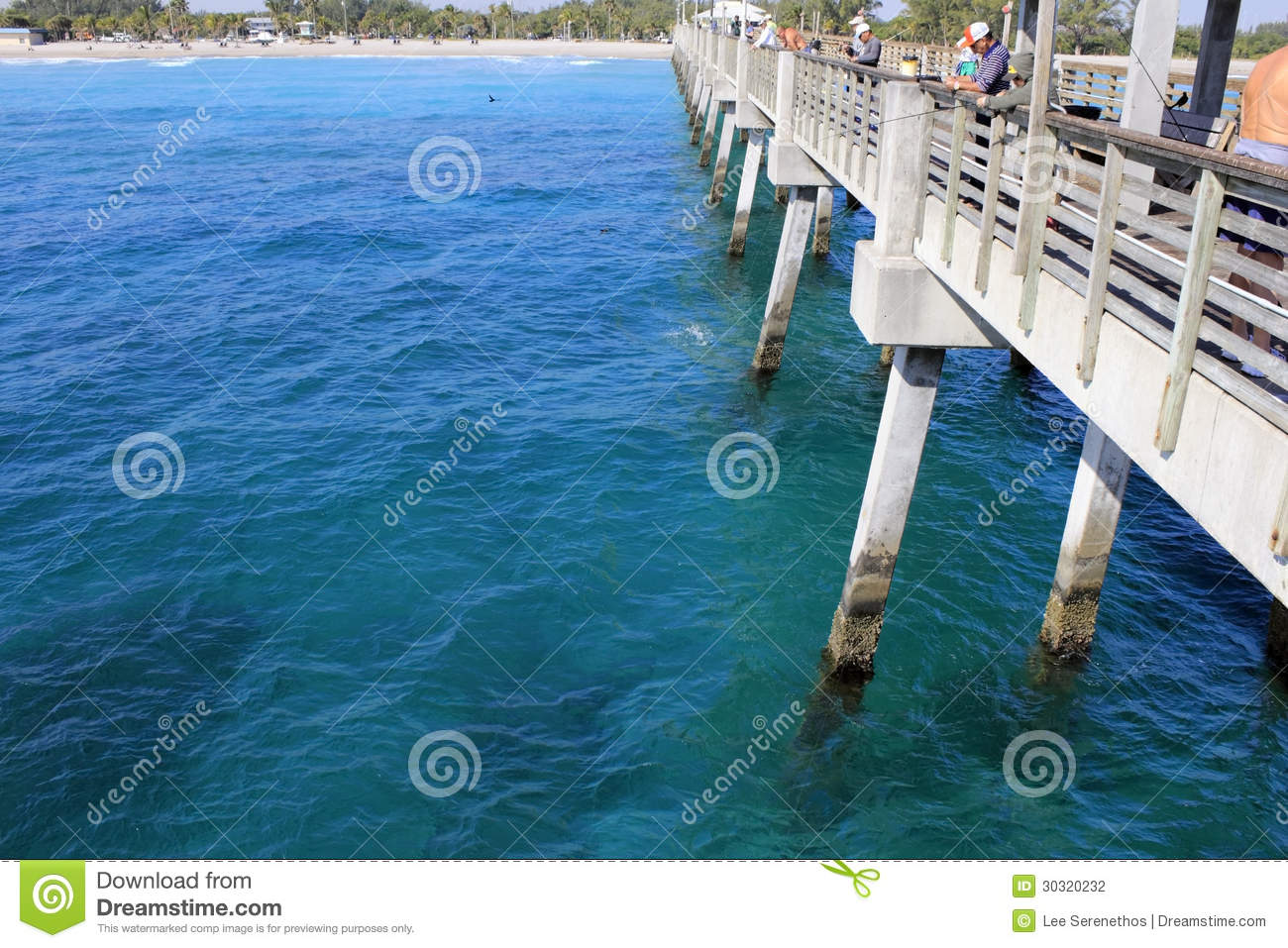 People Fishing Dania Beach Pier Editorial Photography Image Of
