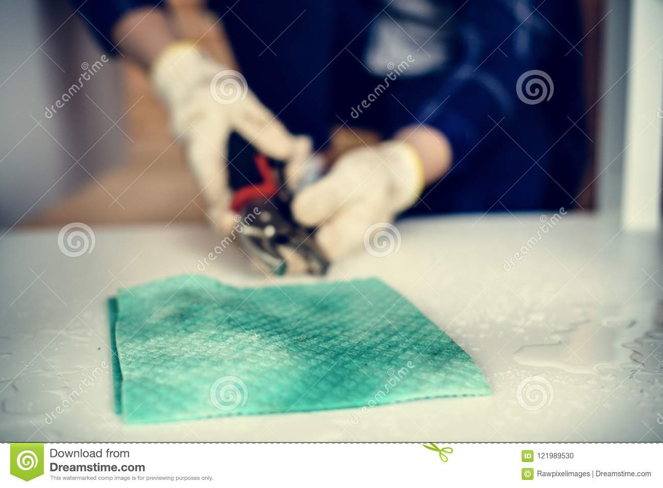 People Fixing Kitchen Sink Home DIY Concept Stock Photo - Image of ...