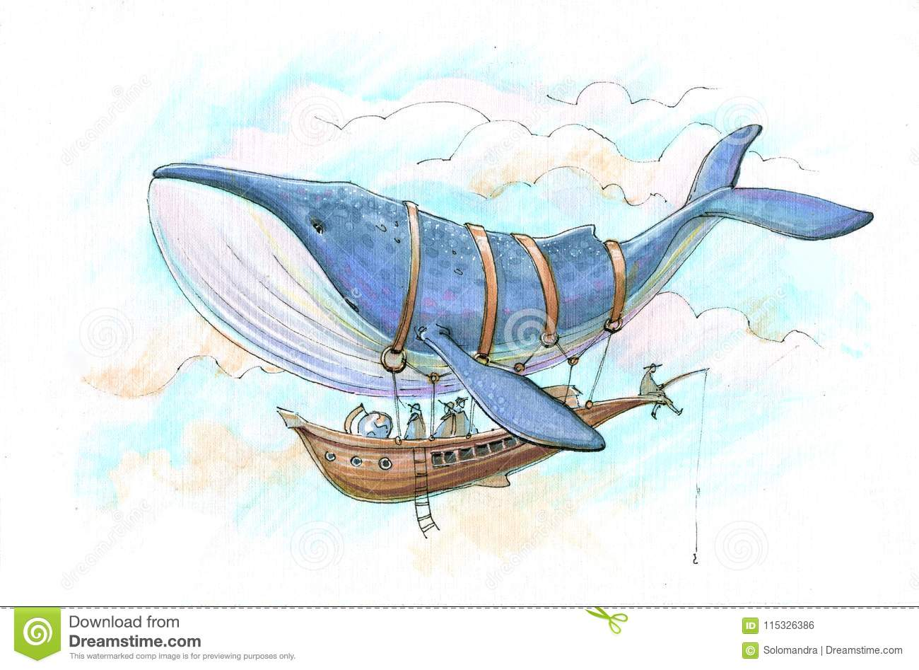 Whale airship journey