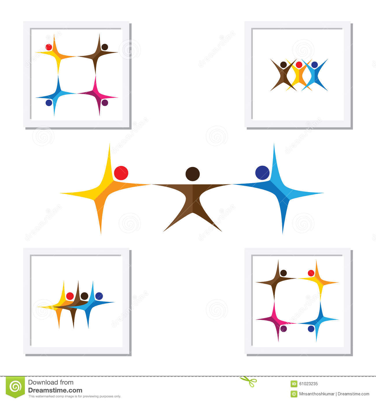 leadership elements or qualities royalty stock photography people friends children vector logo icons and design elements royalty stock photo