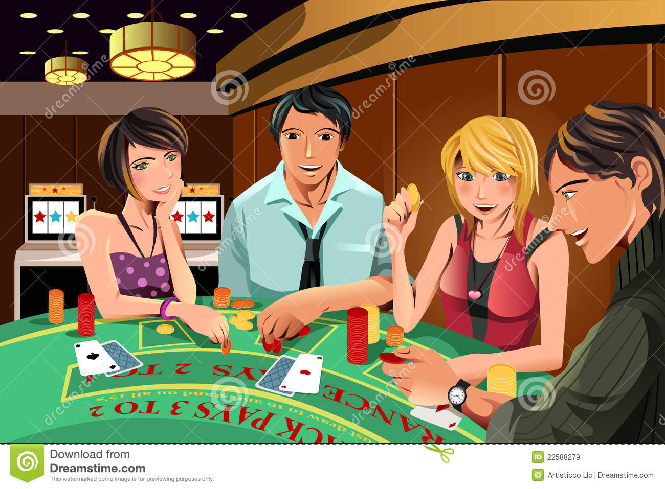 People gambling in cas...