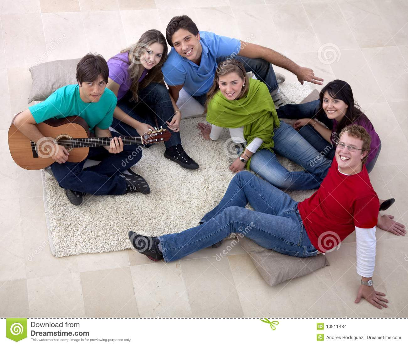 People Gathering Playing Music Stock Photo Image Of