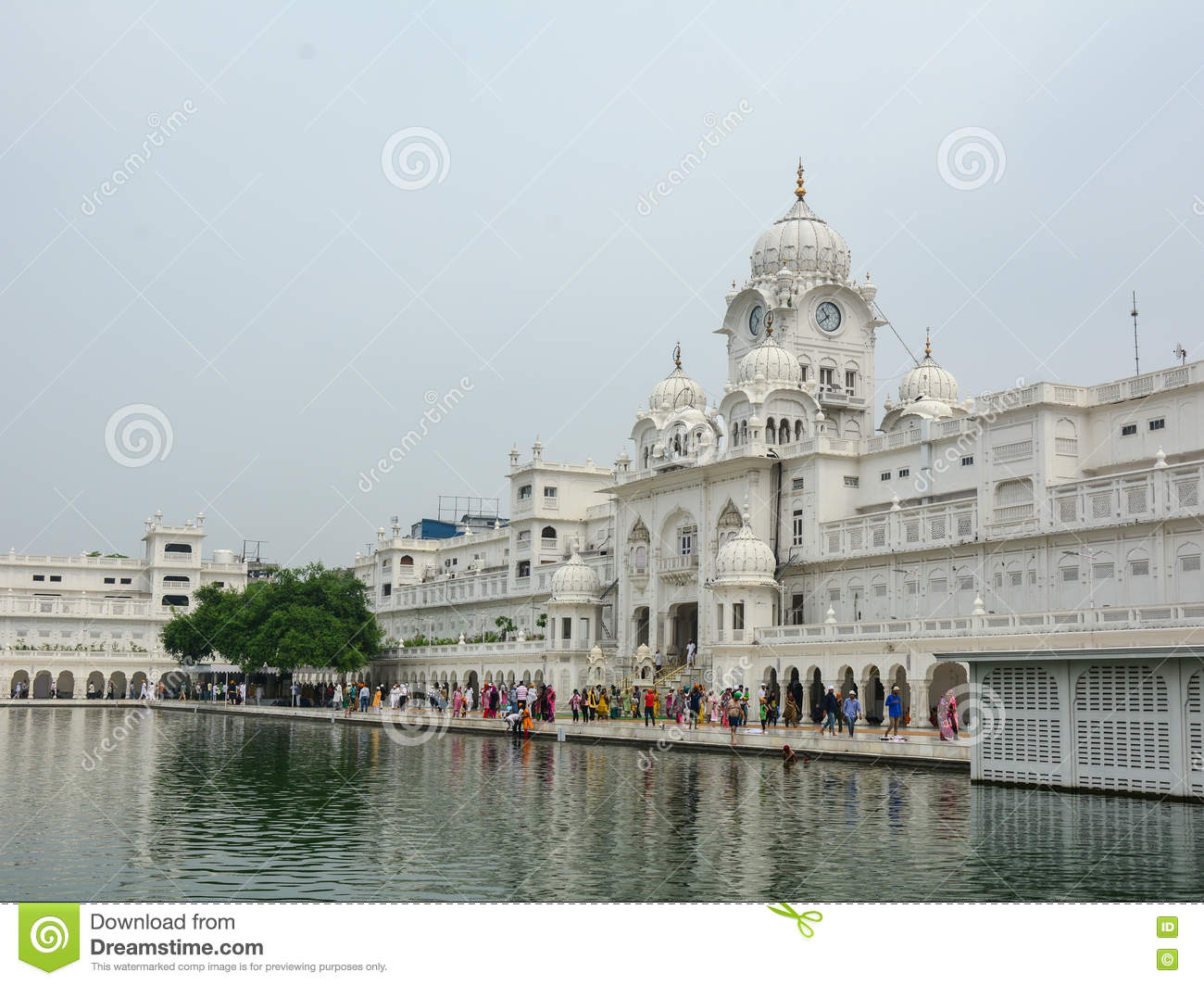 People at Golden Temple in Amritsar, India