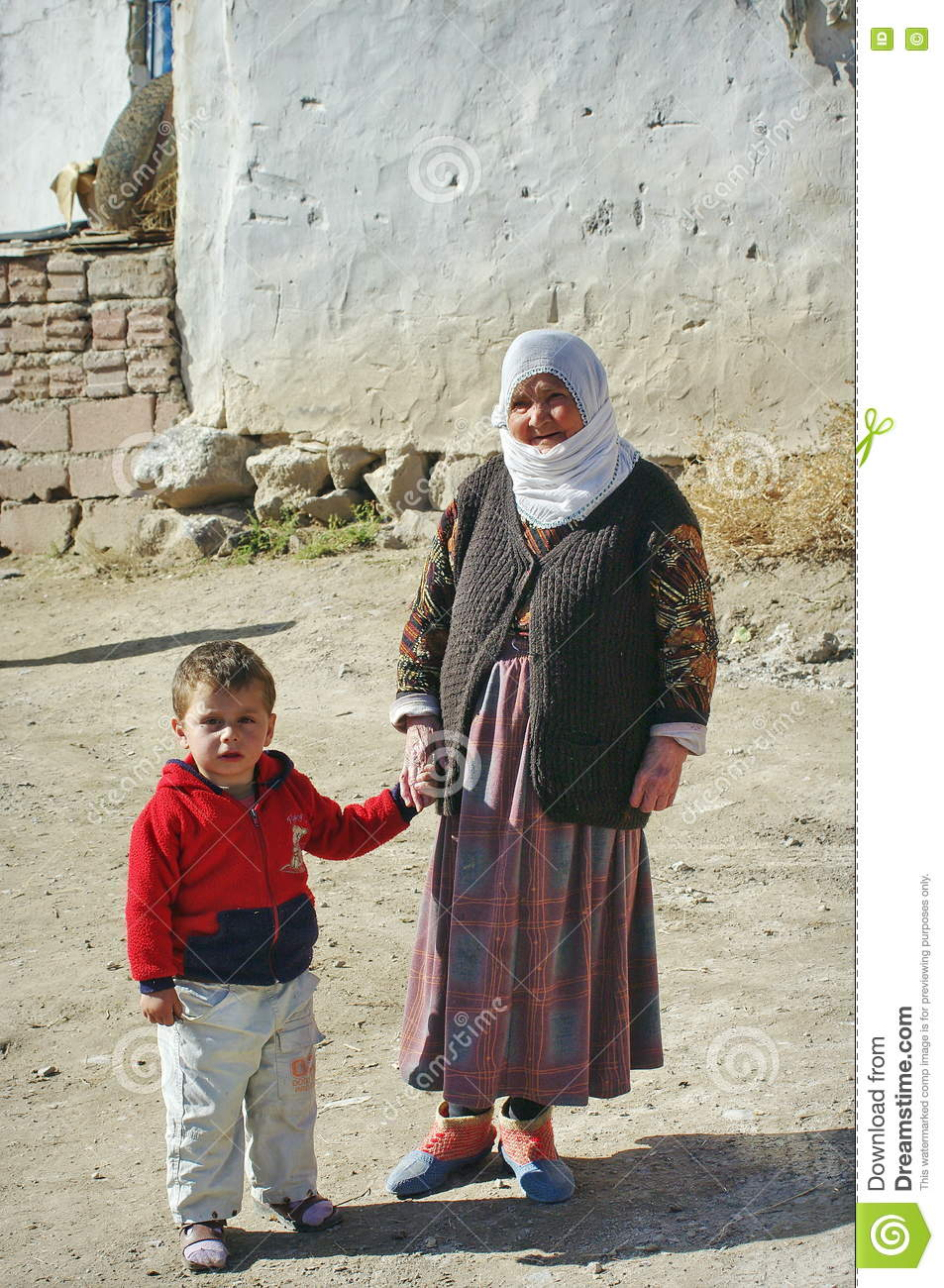 Poor people in a village from Turkey.