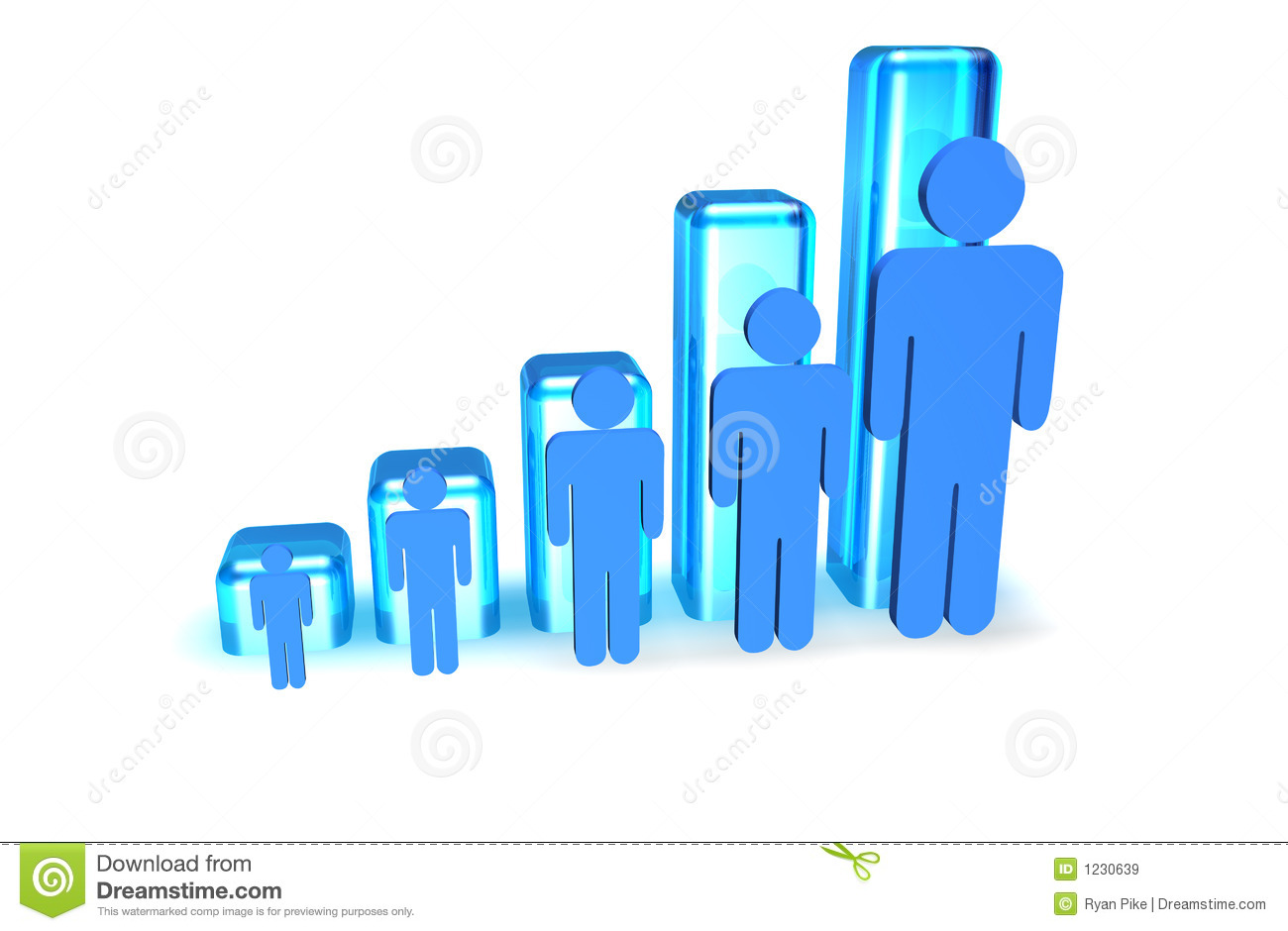 People Graph Royalty Free Stock Images - Image: 1230639