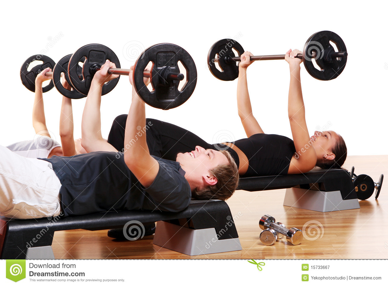 People Group Doing Fitness Exercises Stock Image - Image ...