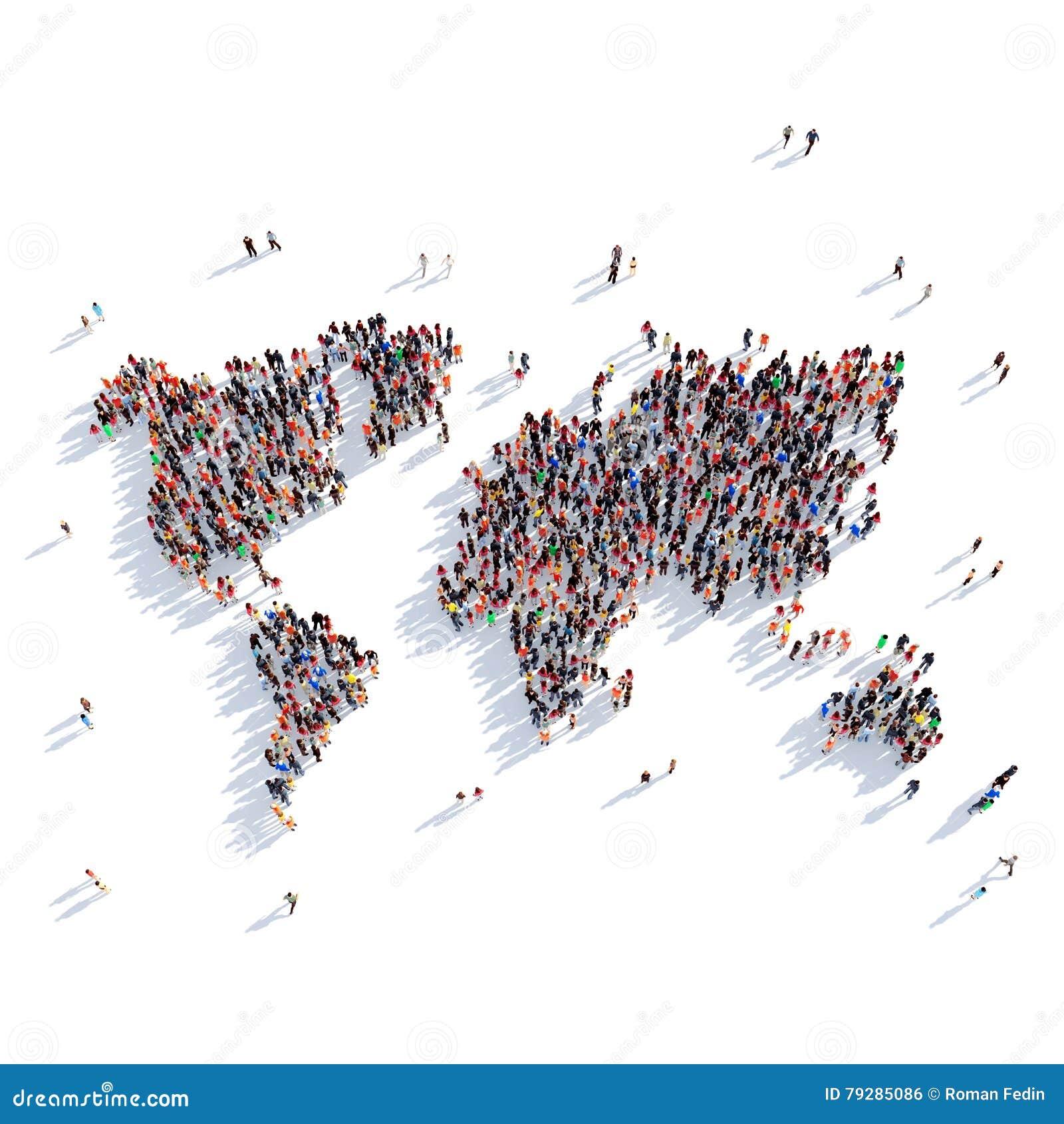 People Group Shape Map World Stock Photo Image Of Europe - World map shape
