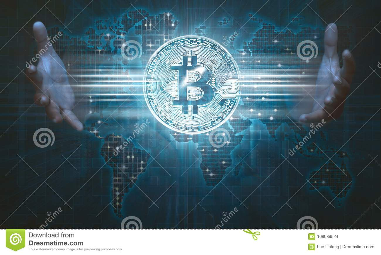 People hands showing bitcoin icon on virtual screen stock people hands showing bitcoin icon on virtual screen gumiabroncs Choice Image