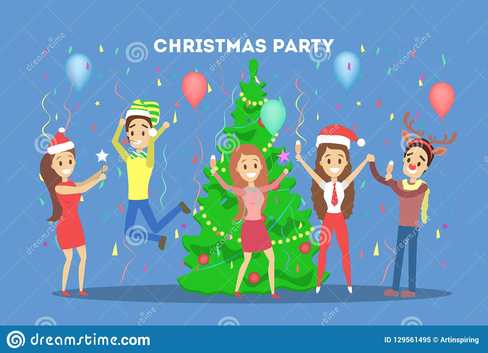 Office Christmas Party Stock Illustrations 4 347 Office Christmas Party Stock Illustrations Vectors Clipart Dreamstime
