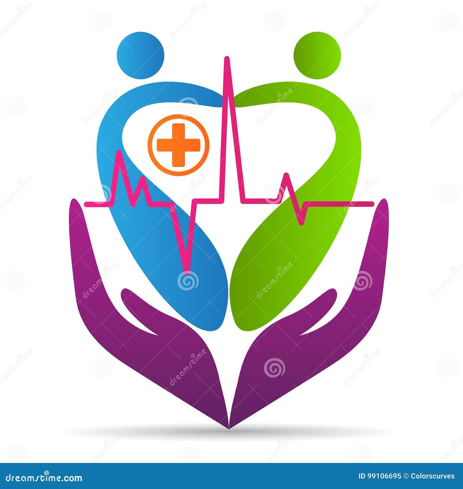 People Heart Care Logo Wellness Healthcare Love Hospital Symbol