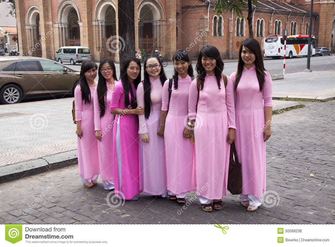 Vietnamese girls editorial stock photo image 50568238