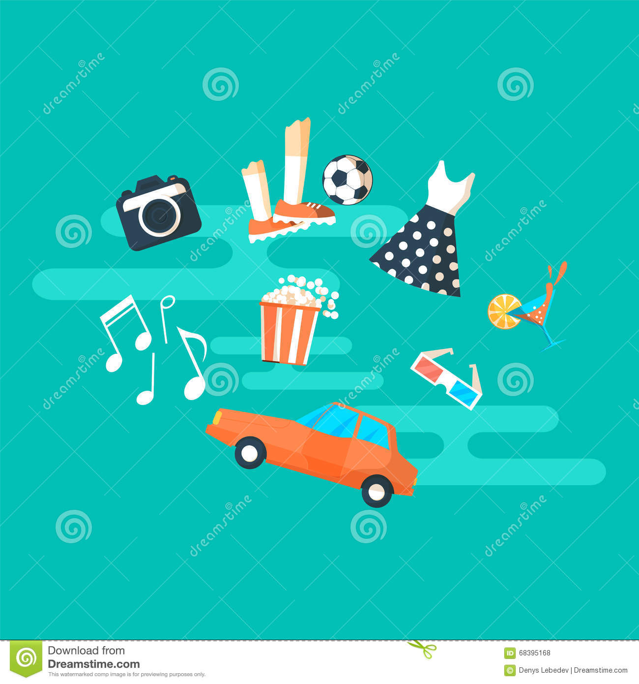 people hobbies and interests banner stock vector image 68395168 people hobbies and interests banner