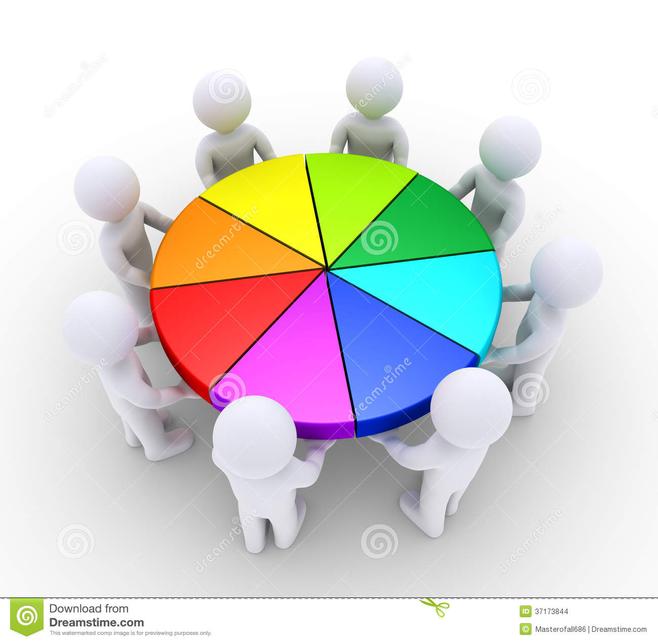 People holding pieces of pie chart stock illustration people holding pieces of pie chart nvjuhfo Images