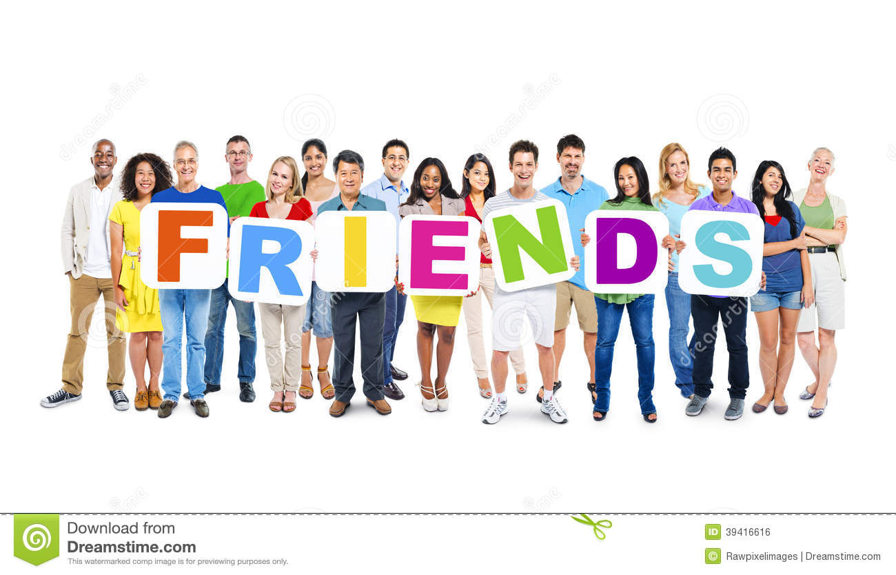 People Holding The Word Friends Stock Photo - Image: 39416616