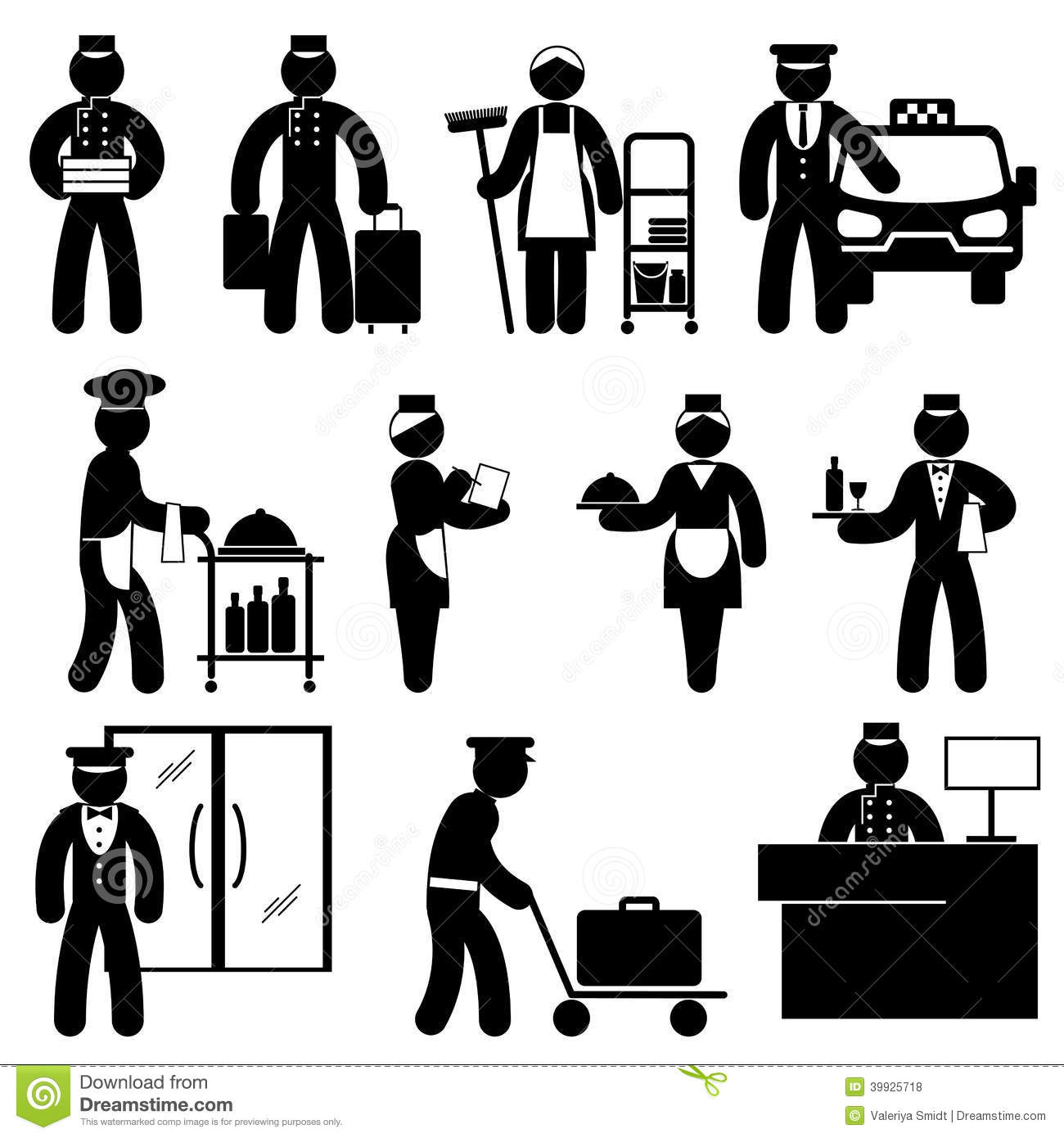 People Hotel Attendant Stock Vector Illustration Of Delivery