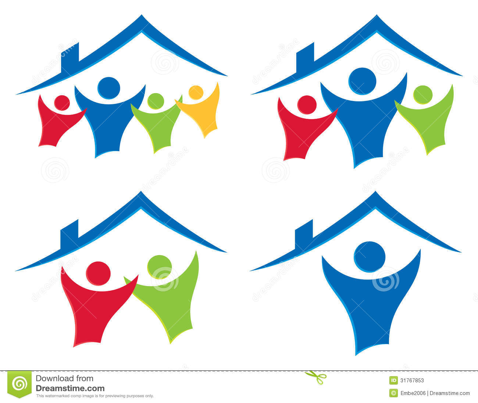 Casita House Plans People House Logo Set Stock Vector Illustration Of Dwell