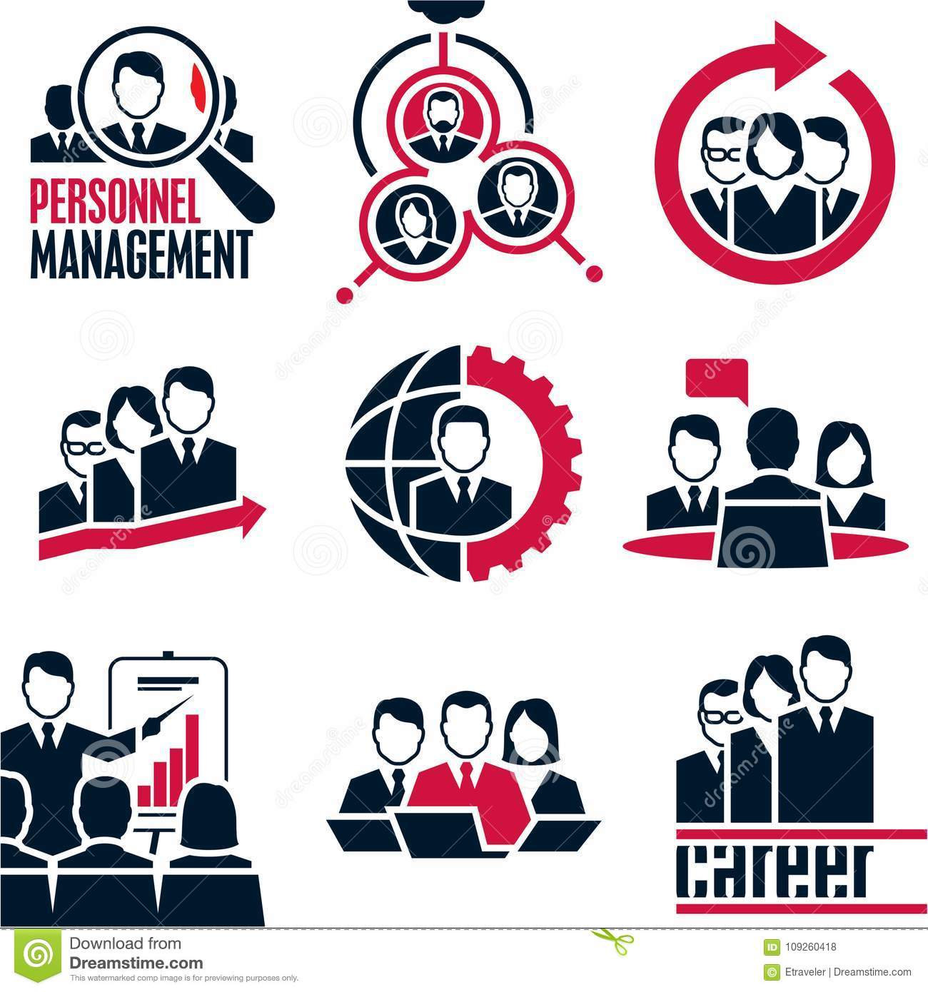 People Icon Business People Management Stock Vector Illustration Of Development Conversation 109260418