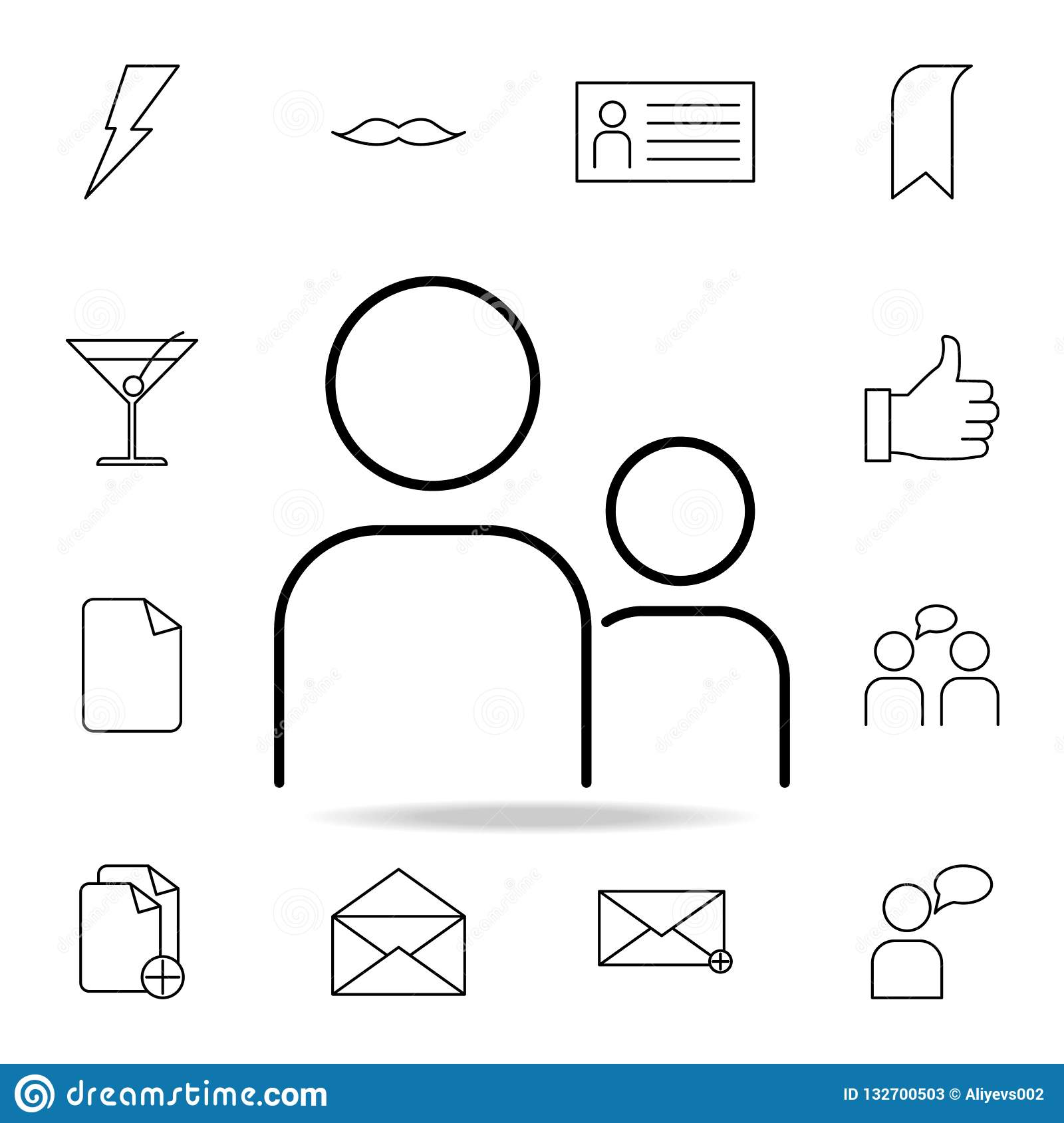 people icon. Detailed set of simple icons. Premium graphic design. One of the collection icons for websites, web design, mobile