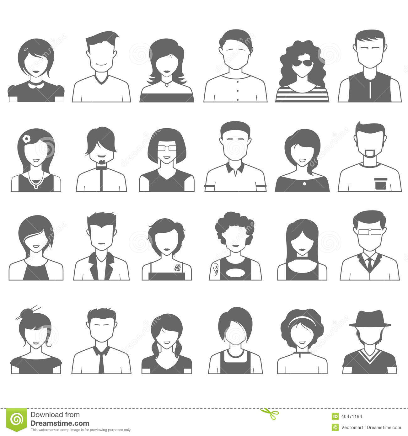 People Icon Stock Vector Image 40471164