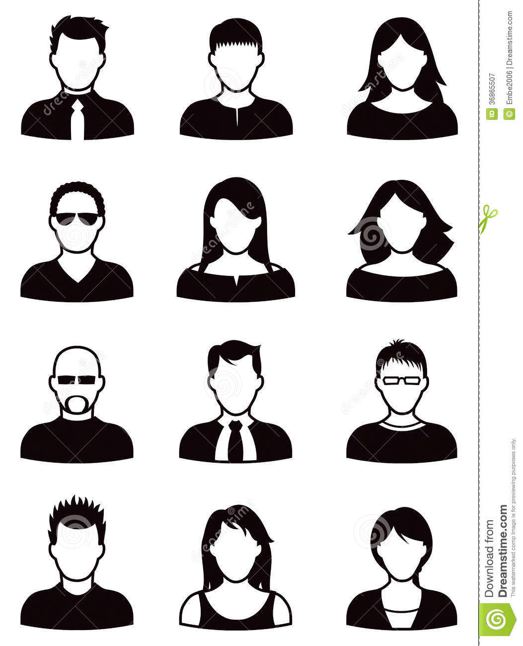 man and woman icon people icon set royalty free stock photography image 4530