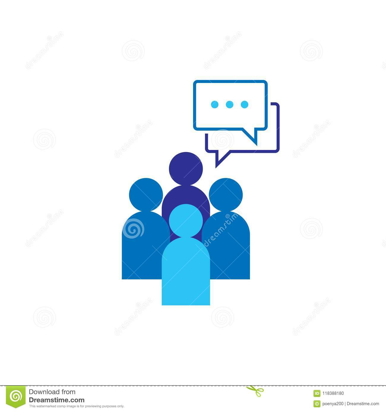 People Icon. Social talk network group logo symbol. Business corporate team working together. Crowd sign. Leadership or community