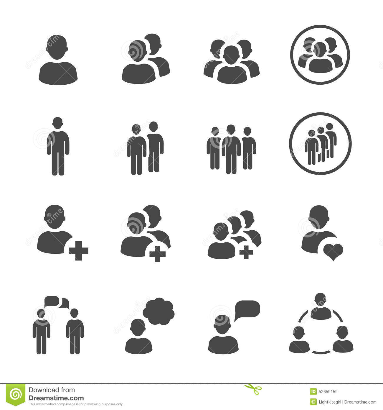 People icon vector set