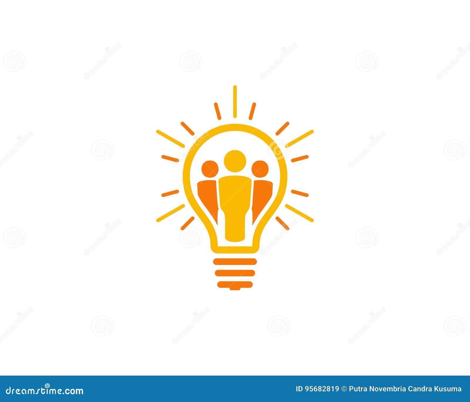 People Idea Icon Logo Design Element Stock Vector   Illustration