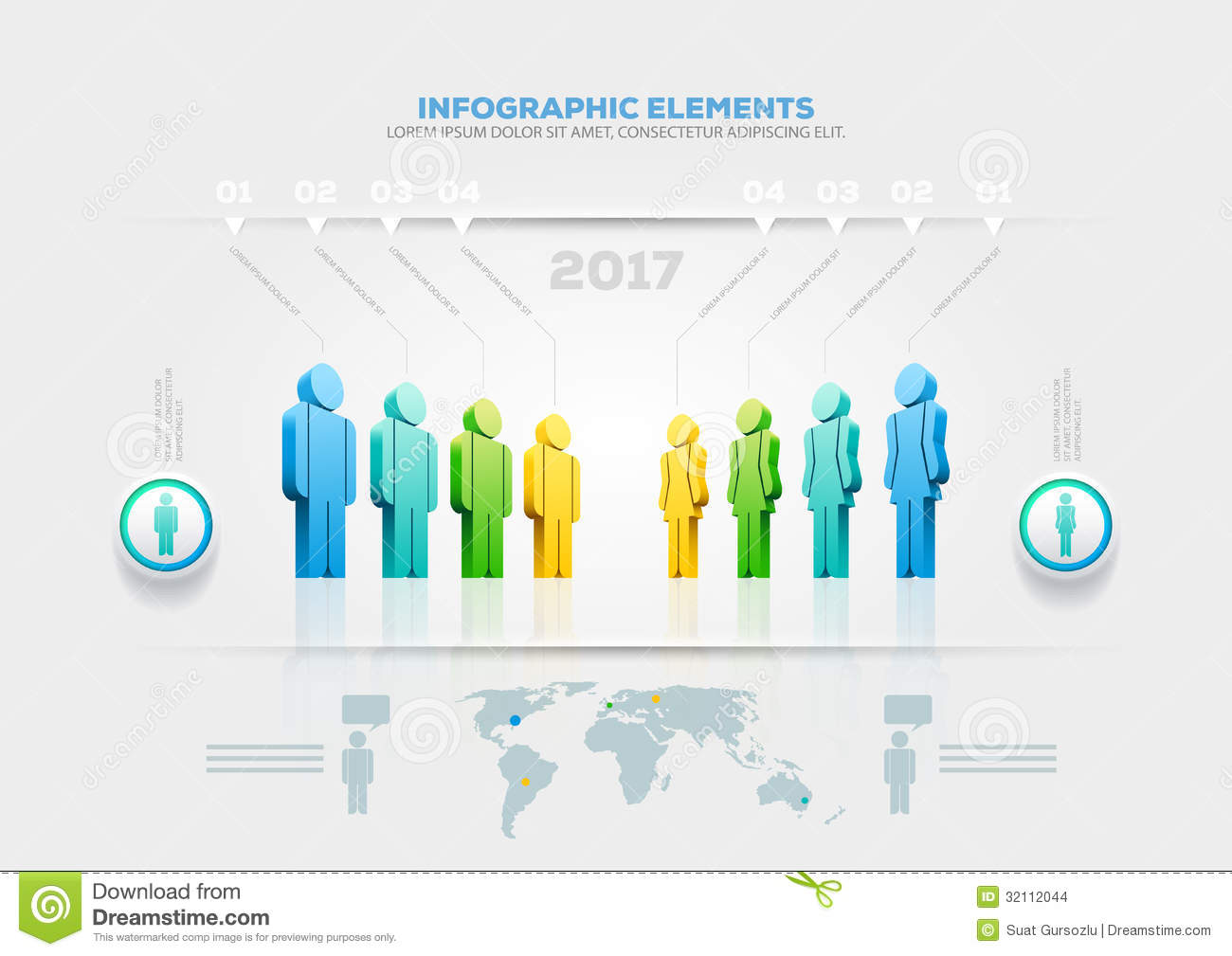 People Infographic Design Template Stock Photo - Image: 32035840