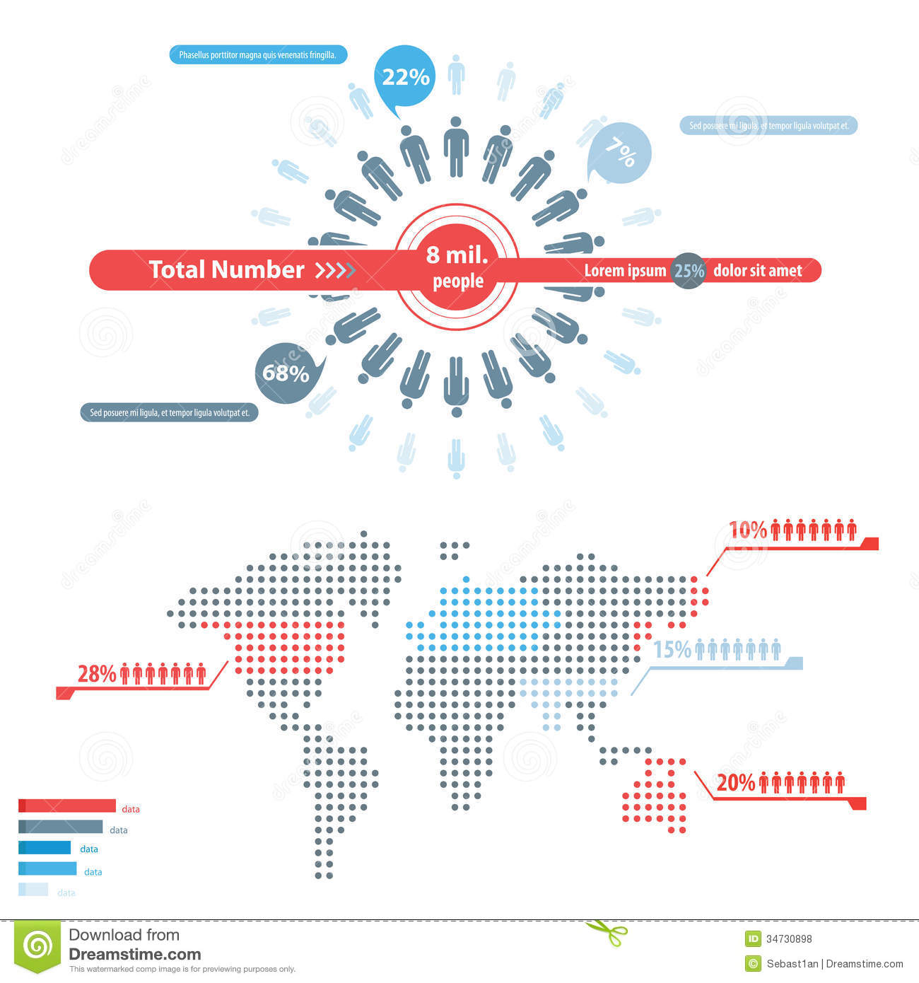 People Infographic Royalty Free Stock Photos - Image: 34730898